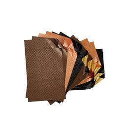 Rinea Earth Tones Foiled Paper Crafter's Pack 12 sheets 6x12