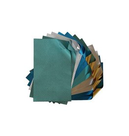 Rinea Frosted Foiled Paper Crafter's Pack 12 sheets 6x12