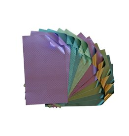 Rinea Pastels Foiled Paper Artist's Pack 12 sheets 4x6