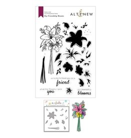 ALTENEW Our Friendship Blooms Stamp, Die and Coloring Stencil Bundle