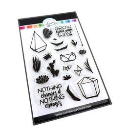 Catherine Pooler Designs Club Canvo: Build-a-Terrarium Stamp Set