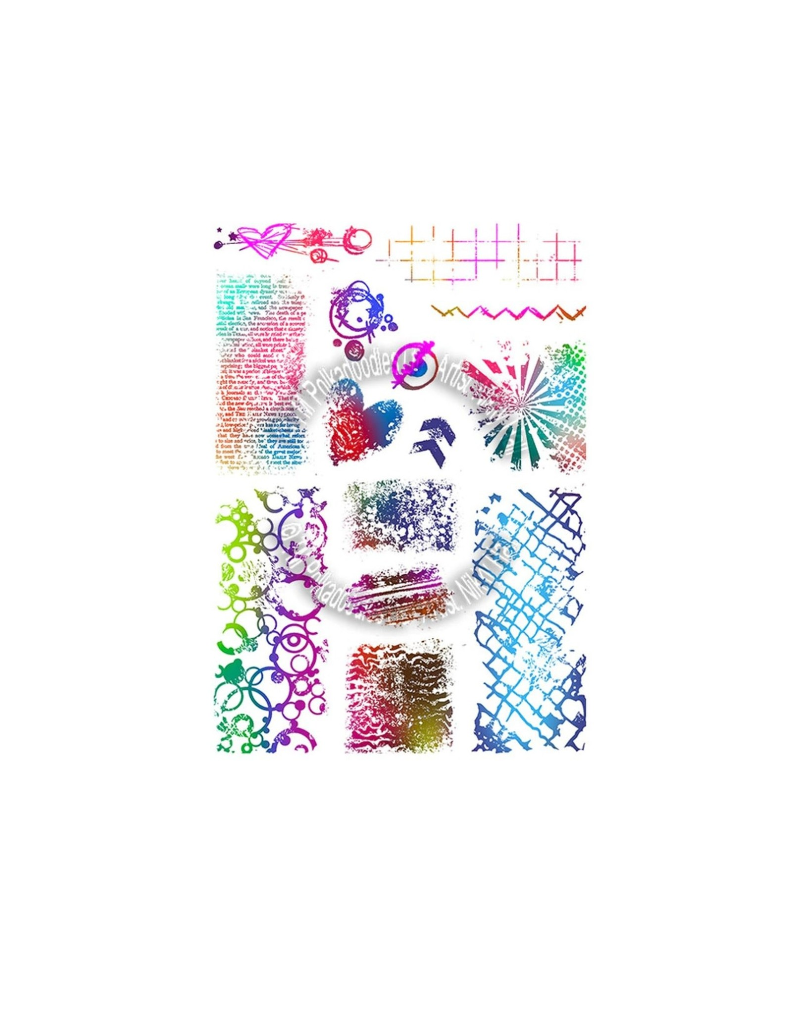Polkadoodles Amazing Textures Large Stamp Set