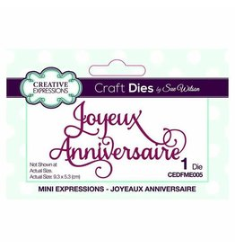Creative Expressions Dies By Sue Wilson Mini Expressions Collection Joyeux Anniversaire