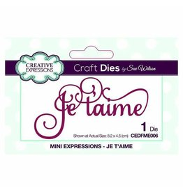 Creative Expressions Dies By Sue Wilson Mini Expressions Collection Je T-Aime
