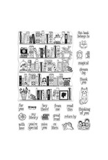 Hero Arts Bookcase Peek-A-Boo Parts 6x8 Clear Stamp