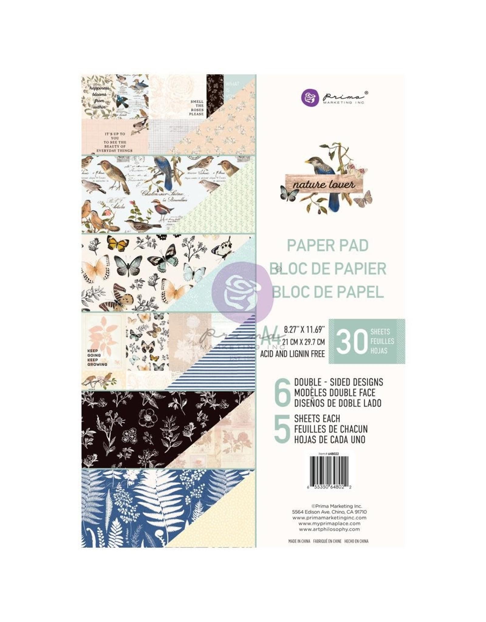 PRIMA MARKETING INC A4 PAD -NATURE LOVER PAPER