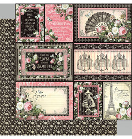 Graphic 45 Graphic 45 - Elegance Collection - 12 x 12 Double Sided Paper - Irresistible
