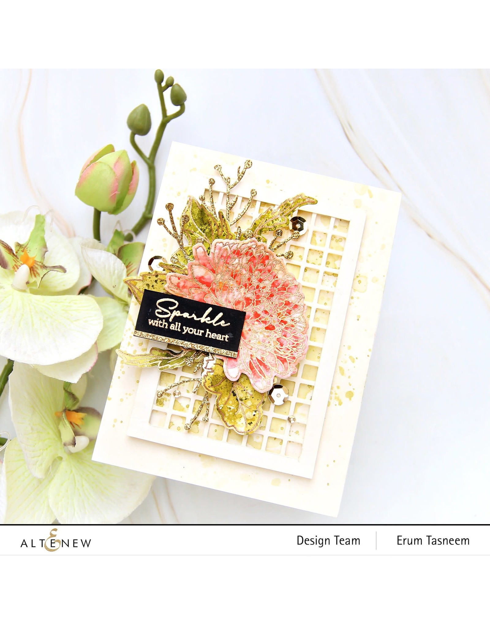 ALTENEW Build-A-Flower: Semi-Double Chrysanthemum Layering Stamp and Die Set