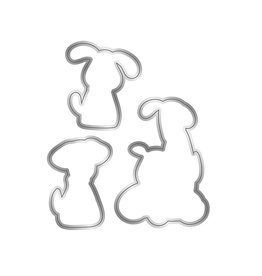 Crafter's Companion Nitwit Clear Stamp & Die Set, Pawsitivity - Furr-ever Friends