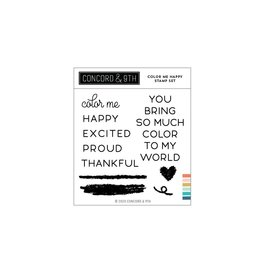 Concord & 9TH COLOR ME HAPPY CLEAR STAMPS 4X4