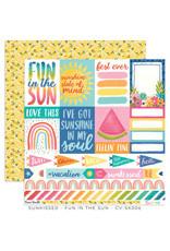 Cocoa Vanilla 12X12 Patterned Paper, Sunkissed - Fun In The Sun