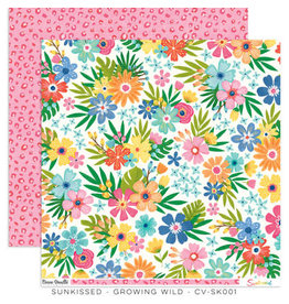 Cocoa Vanilla 12X12 Patterned Paper, Sunkissed - Growing Wild