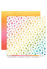 Cocoa Vanilla 12X12 Patterned Paper, Sunkissed - Summer Lights