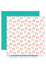 Cocoa Vanilla 12X12 Patterned Paper, Sunkissed - Sunny Days