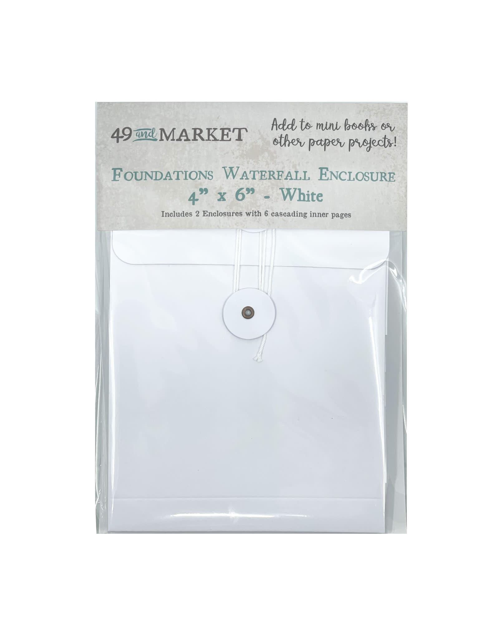 49 AND MARKET Album Waterfall Enclosure 4x6 White