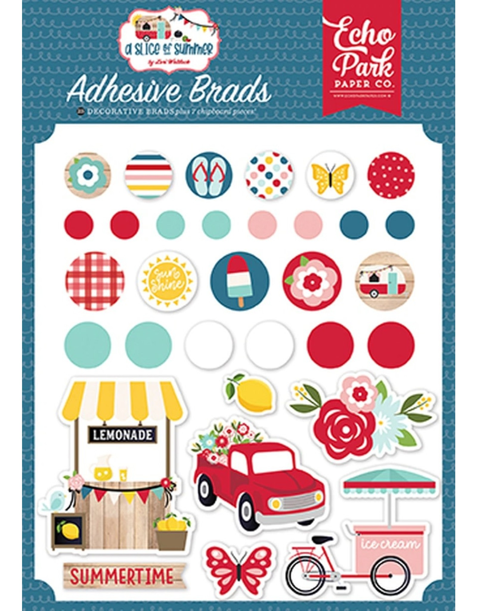 Echo Park A Slice of Summer - Adhesive Brads