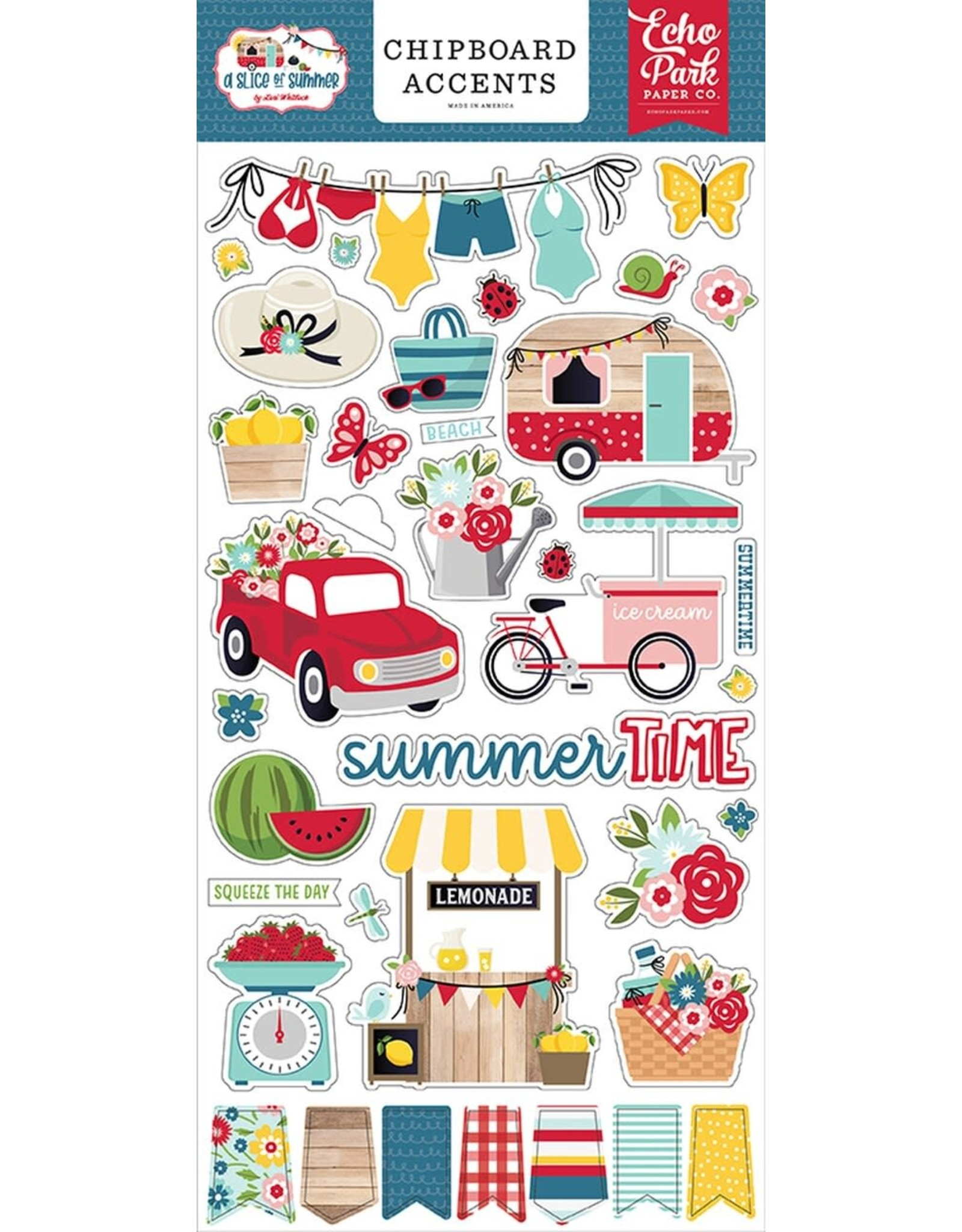 Echo Park A Slice of Summer - Chipboard Accents 6x13