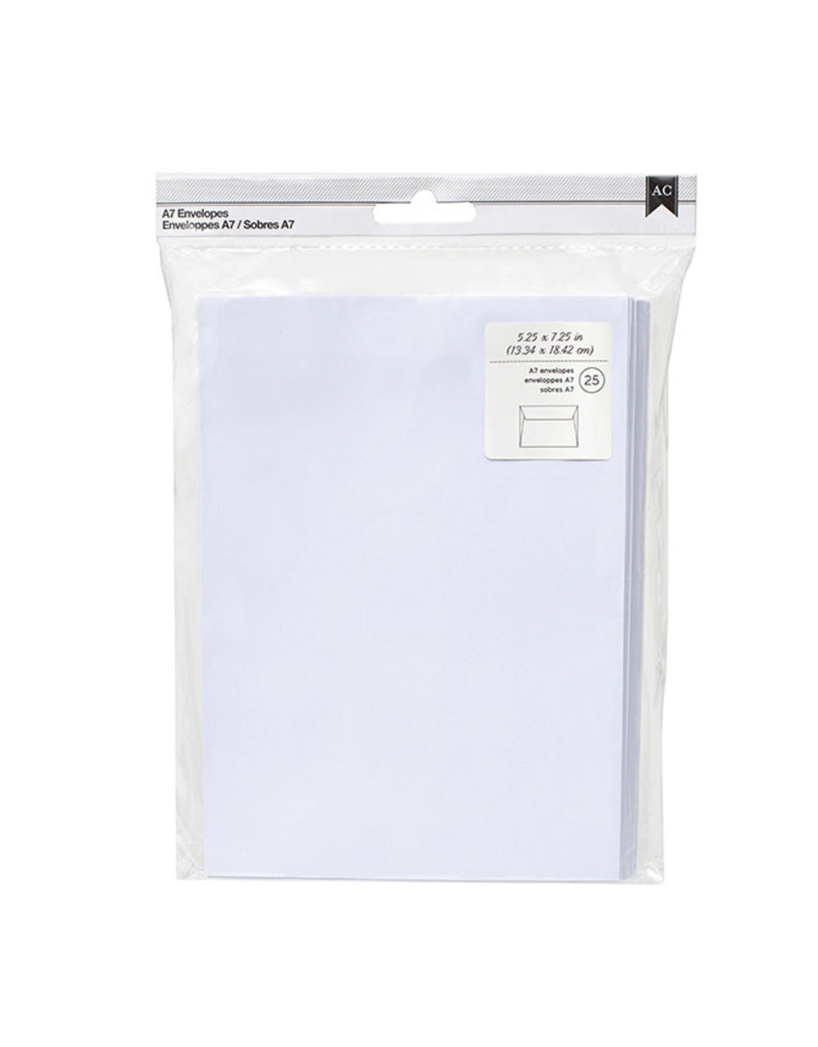 AMERICAN CRAFTS AC - Envelopes - a7 - 5.25 x 7.25 - white (25 piece)