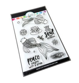 Catherine Pooler Designs Club Canvo Koi Pond Stamp Set