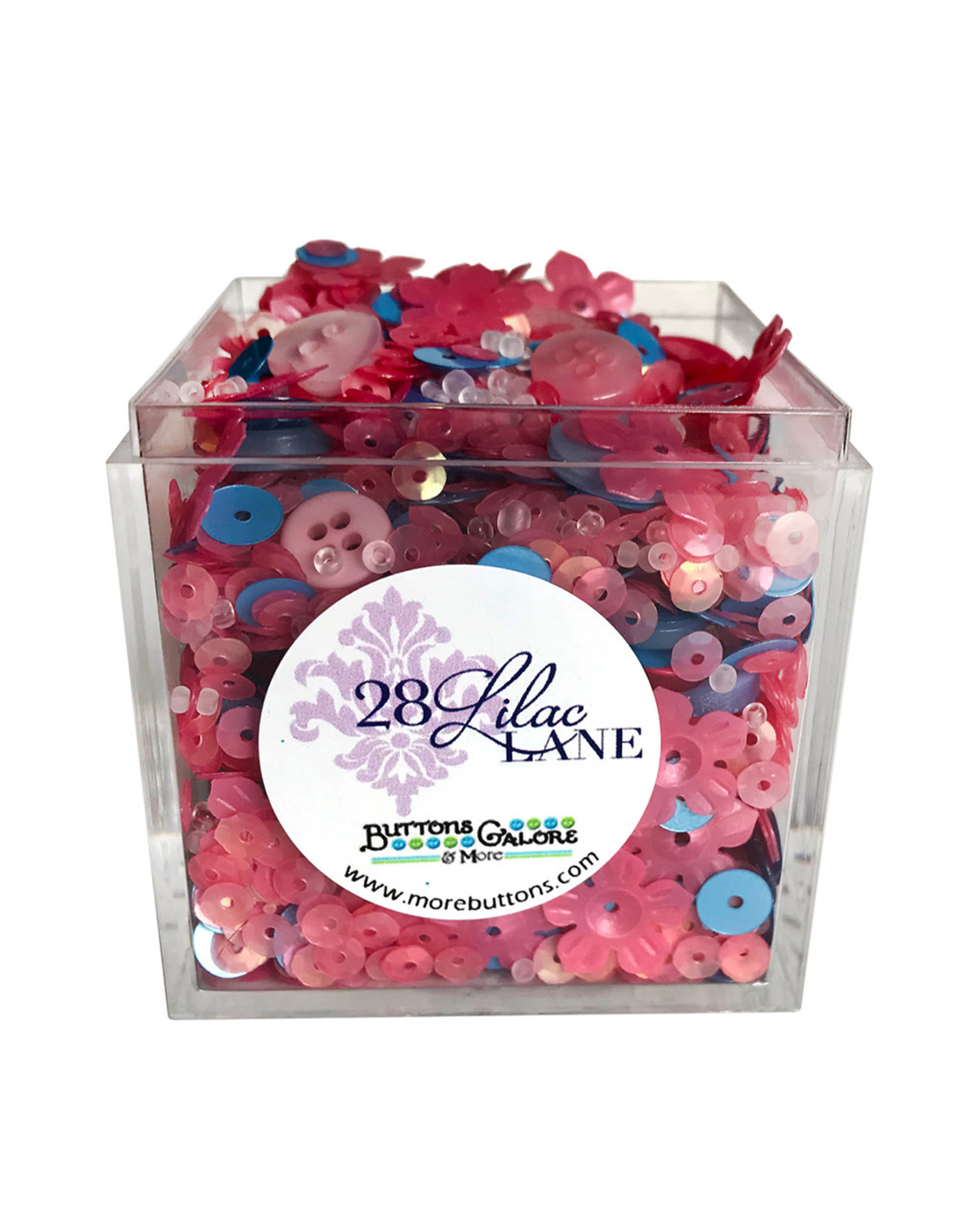 Buttons Galore & More 28 Lilac Lane - Shaker Mixes - Cherries In Bloom