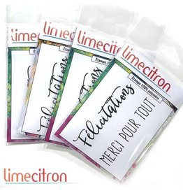 Limecitron Félicitations et Merci Stamp