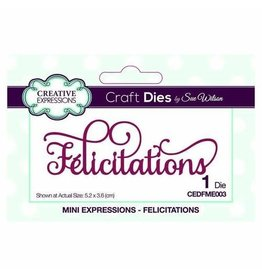 Creative Expressions Dies By Sue Wilson Mini Expressions Collection Felicitations