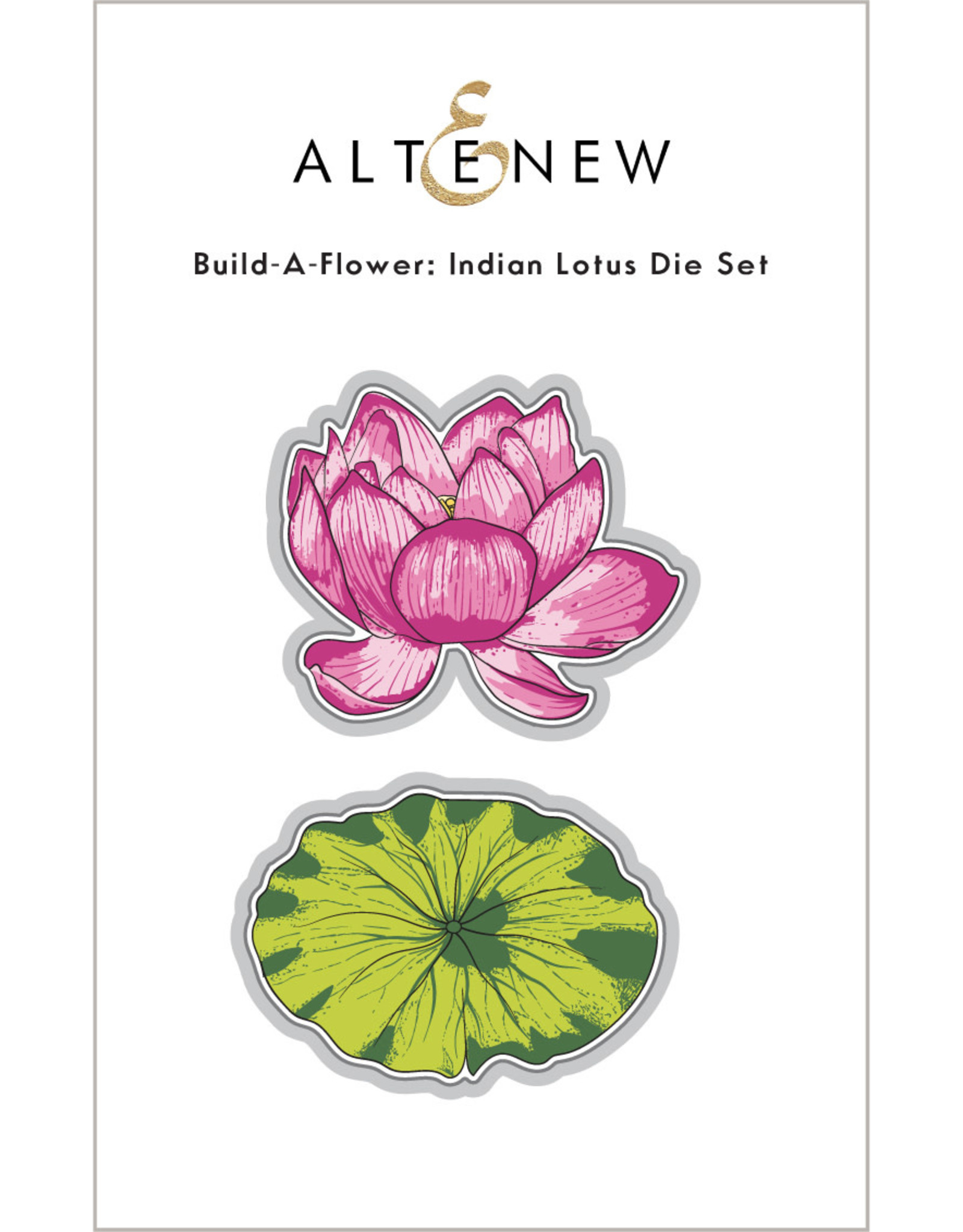 ALTENEW Build A Flower Indian Lotus Layering Stamp and Die Set
