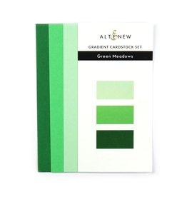 ALTENEW Ultimate Gradient Cardstock- Green Meadows