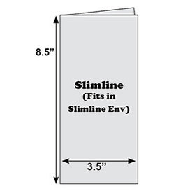 The Paper Cut 10 White Slimline Scored Cards Folds 3.5x8.5 - Cards Only