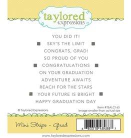 Taylored Expressions Mini Strips Stamp Grad