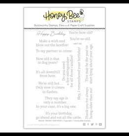 Honey Bee Snarky Birthday Sentiments 4x6 Stamp Set