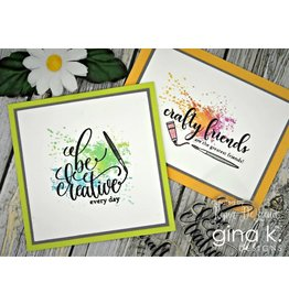 Gina K. Designs Crafty and Creative MINI Stamp