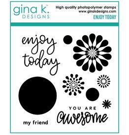 Gina K. Designs Enjoy Today MINI Stamp