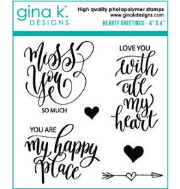 Gina K. Designs Hearty Greetings MINI Stamp