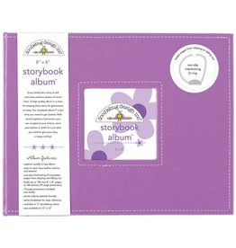 Doodlebug Design lilac storybook album 8x8