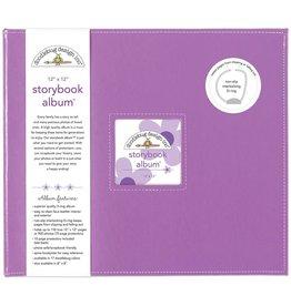 Doodlebug Design lilac storybook album 12x12