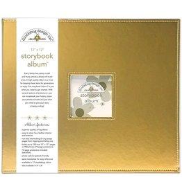 Doodlebug Design gold storybook album 12x12