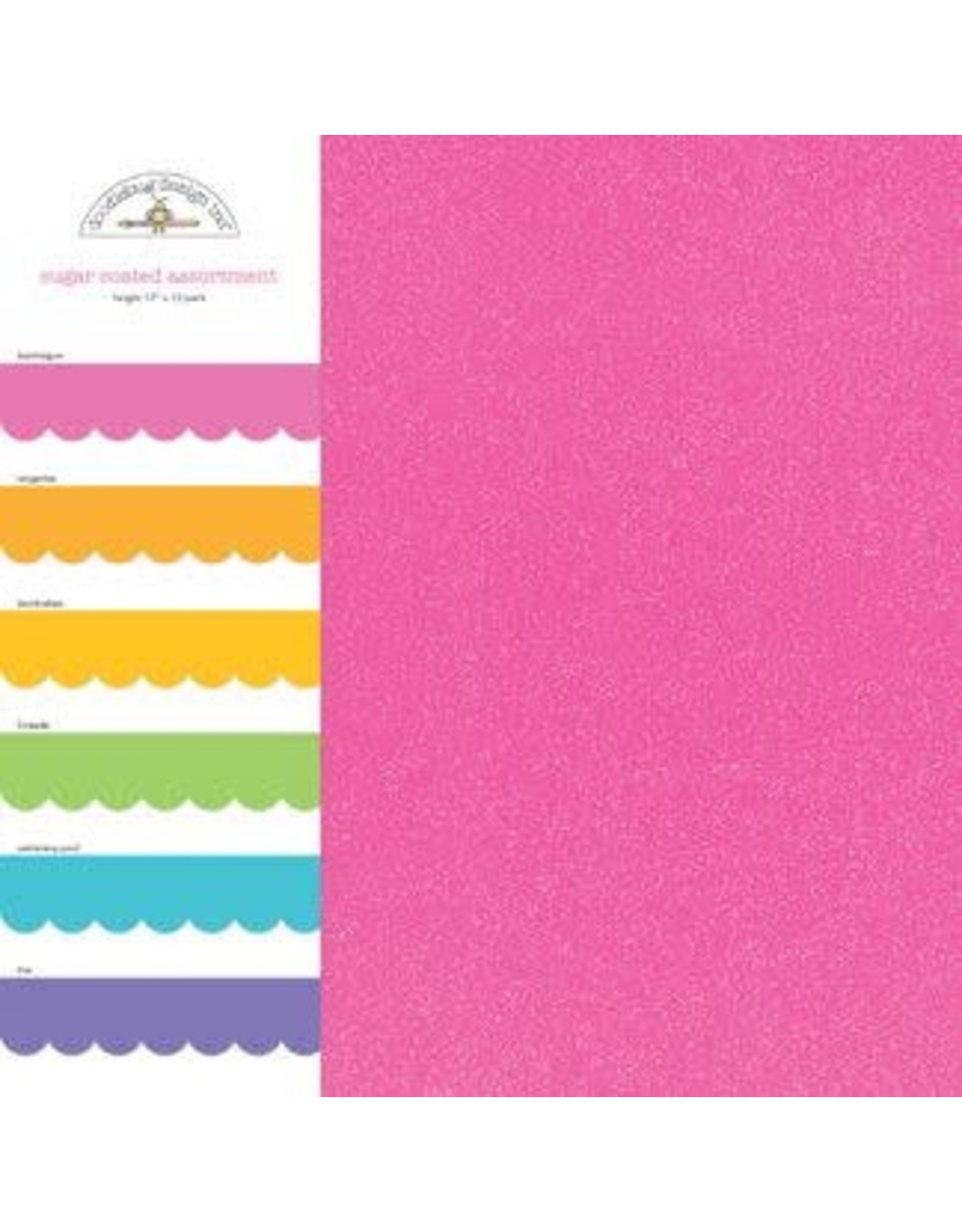 Doodlebug Design 12x12 bright sugar coated assortment pack
