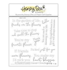 Honey Bee My Favorite Flower 4x4 Stamp Set