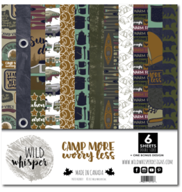 Wild Whisper Designs Camp More, Worry Less - 12x12 Paper Pack