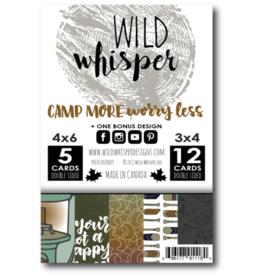 Wild Whisper Designs Camp More, Worry Less - Card Pack