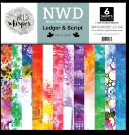 Wild Whisper Designs Nicole Wright Ledger & Script - 12x12 Paper Pack