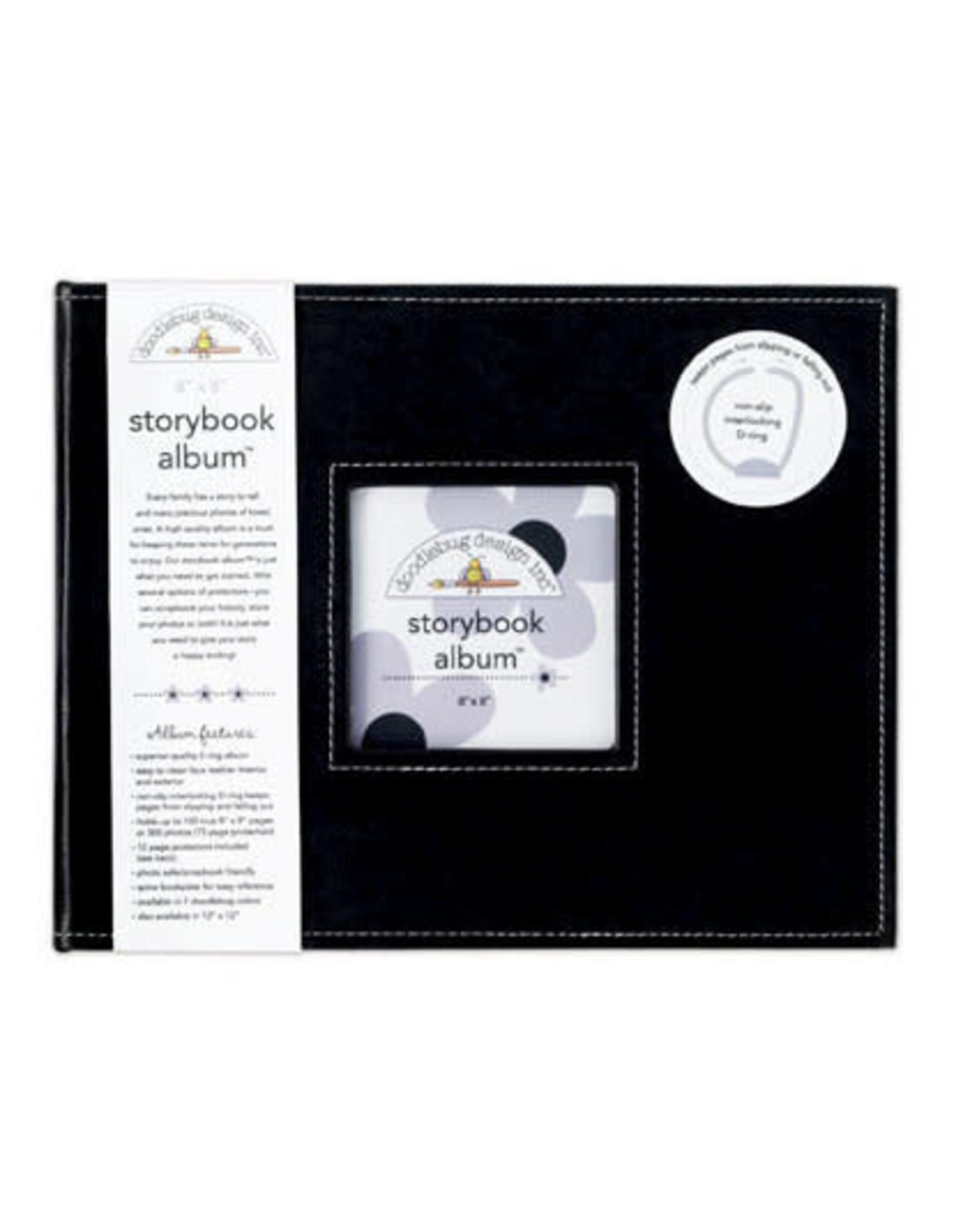 Doodlebug Design Beetle Black Storybook Album 8X8