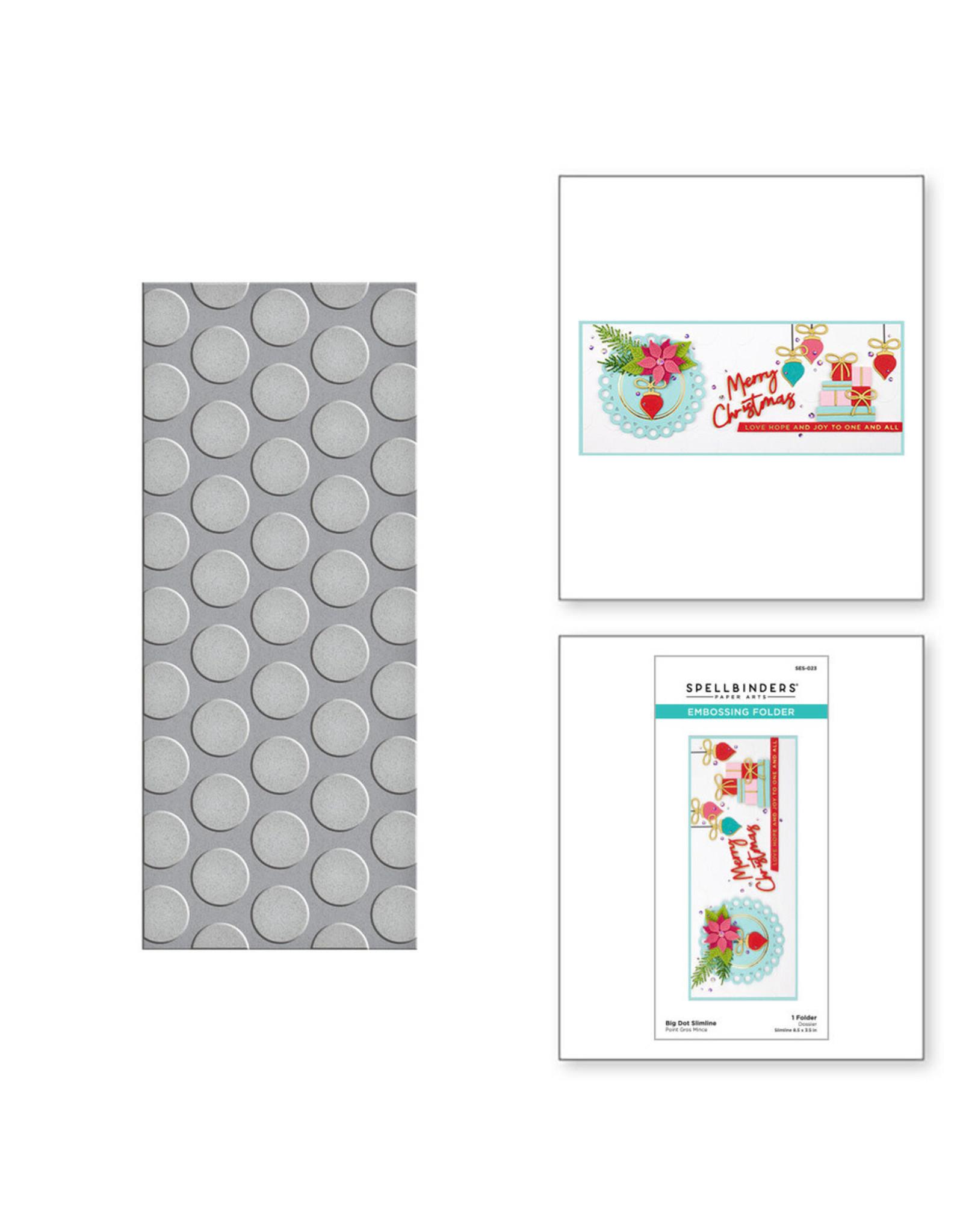 Spellbinders Big Dot Slimline Embossing Folder