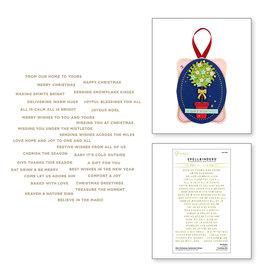 Spellbinders Mini Christmas Sentiment Strips Glimmer Hot Foil Plate & Die