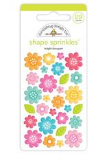 Doodlebug Design bright bouquet shape sprinkles