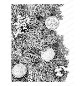 Impression Obsession Pixel Christmas Tree Cling Stamp