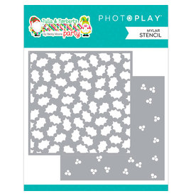 PHOTOPLAY Tulla and Norbert Christmas Party - Holly Berry Stencil 2 pc