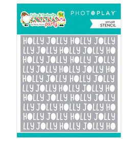 PHOTOPLAY Tulla and Norbert Christmas Party - Holly Jolly Word Stencil