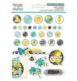 Simple Stories Lemon Twist Decorative Brads